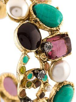 Браслет-Кафф С Логотипом Chanel Vintage                                                                                                              серебристый цвет