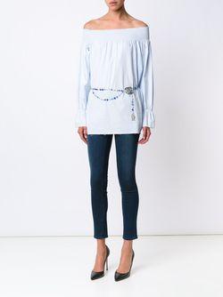 Ремень С Логотипом Chanel Vintage                                                                                                              синий цвет