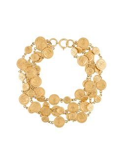 Многослойное Ожерелье Chanel Vintage                                                                                                              серебристый цвет