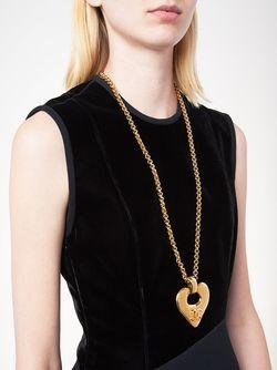 Длинное Колье С Подвеской-Сердцем Chanel Vintage                                                                                                              серебристый цвет