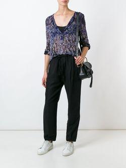 Блузка С Абстрактным Принтом Raquel Allegra                                                                                                              синий цвет