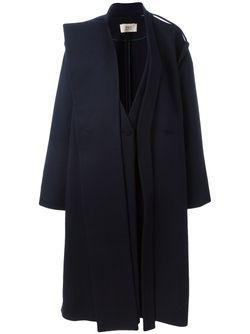 Двубортное Пальто Ports                                                                                                              синий цвет
