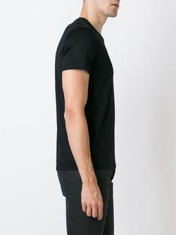 Футболка С Вышитым Логотипом Alexander McQueen                                                                                                              чёрный цвет