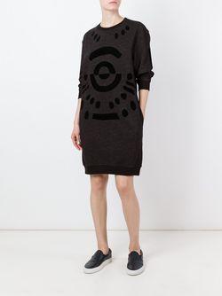 Платье-Толстовка С Этническим Узором Mcq Alexander Mcqueen                                                                                                              чёрный цвет