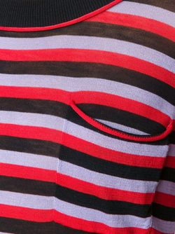 Полосатый Свитер С Глубоким Вырезом Sonia Rykiel                                                                                                              черный цвет