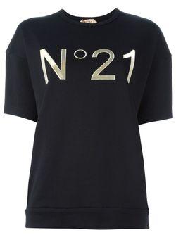 Футболка С Принтом Логотипа No21                                                                                                              черный цвет