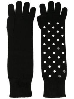 Перчатки С Заклепками No21                                                                                                              чёрный цвет