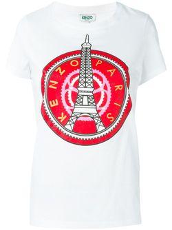 Футболка Eiffel Tower Kenzo                                                                                                              белый цвет