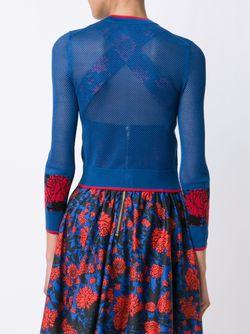 Жаккардовый Кардиган С Цветочным Узором Sophie Theallet                                                                                                              синий цвет