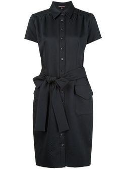 Платье-Рубашка С Поясом Sophie Theallet                                                                                                              черный цвет