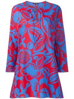 Платье-Кафтан С Цветочным Принтом Sophie Theallet                                                                                                              красный цвет