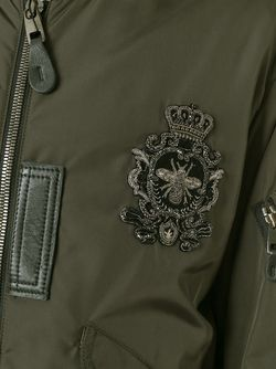 Куртка Бомбер С Нашивкой Dolce & Gabbana                                                                                                              зелёный цвет