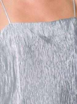 Платье Миди С Отделкой Металлик Adam Lippes                                                                                                              серебристый цвет