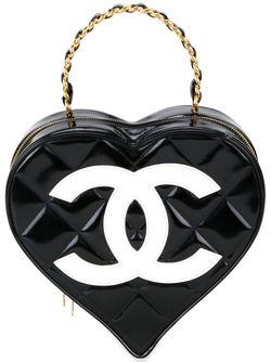 Сумка-Тоут В Форме Сердца Chanel Vintage                                                                                                              чёрный цвет
