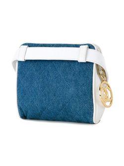 Джинсовая Сумка На Пояс Chanel Vintage                                                                                                              синий цвет