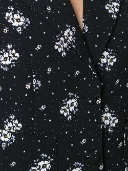 Пиджак С Цветочным Принтом Cinq A Sept                                                                                                              чёрный цвет