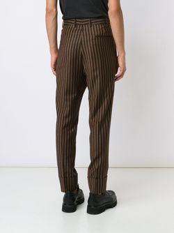 Брюки В Тонкую Полоску Vivienne Westwood                                                                                                              коричневый цвет