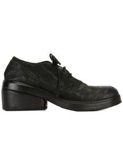 Туфли На Массивном Каблуке Со Шнуровкой Marsell                                                                                                              чёрный цвет