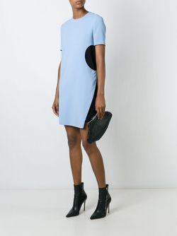 Платье С Контрастной Вставкой Versace                                                                                                              синий цвет