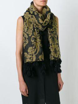 Шарф С Цветочным Принтом Twin-set                                                                                                              чёрный цвет