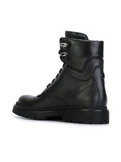 Ботинки На Шнуровке Moncler                                                                                                              чёрный цвет