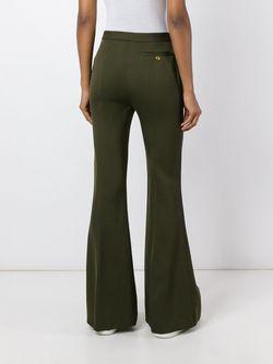Расклешенные Брюки Alexander McQueen                                                                                                              зелёный цвет