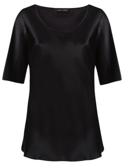 Round Neck Blouse GLORIA COELHO                                                                                                              чёрный цвет