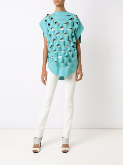 Cut Out Details Tunic GLORIA COELHO                                                                                                              синий цвет