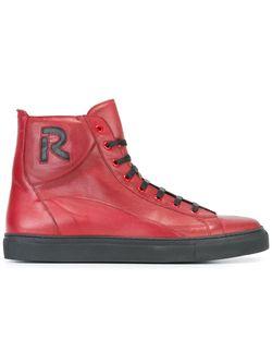 Хайтопы С Нашивкой Raf Simons                                                                                                              красный цвет