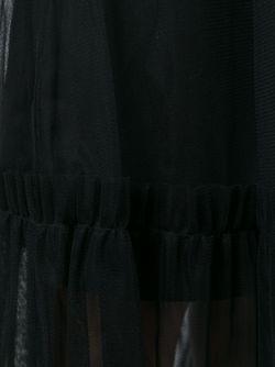 Прозрачная Драпированная Юбка MSGM                                                                                                              черный цвет