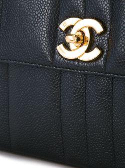 Сумка На Плечо С Откидным Клапаном Chanel Vintage                                                                                                              чёрный цвет