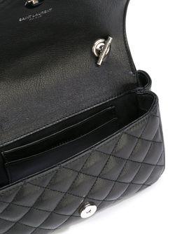Маленькая Сумка Monogram С Цепочной Лямкой Saint Laurent                                                                                                              черный цвет