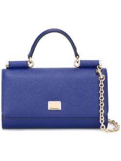 Мини Сумка Через Плечо Von Dolce & Gabbana                                                                                                              синий цвет