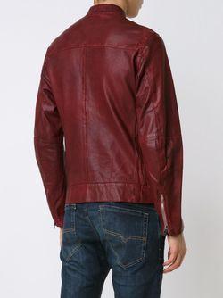 Кожаная Куртка На Молнии Diesel                                                                                                              красный цвет
