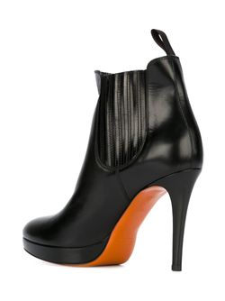 Ботинки На Шпильке Santoni                                                                                                              чёрный цвет