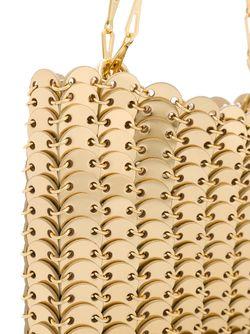 Сумка На Плечо С Отделкой Из Кольчуги Paco Rabanne                                                                                                              серебристый цвет