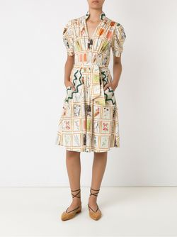Print Belted Dress Isabela Capeto                                                                                                              Nude & Neutrals цвет
