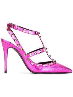 Туфли Rockstud Valentino                                                                                                              розовый цвет