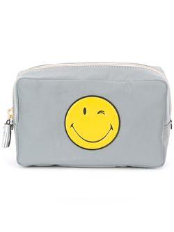 Косметичка Smiley Anya Hindmarch                                                                                                              серый цвет
