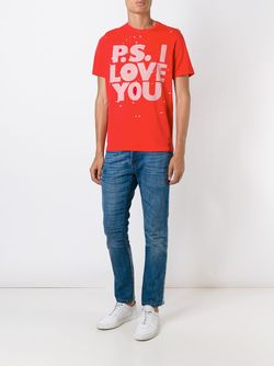 P.S. I Love You Print T-Shirt PS PAUL SMITH                                                                                                              красный цвет