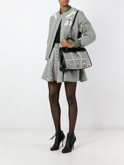 Сумка-Тоут С Сетчатым Принтом Olympia Le-Tan                                                                                                              черный цвет