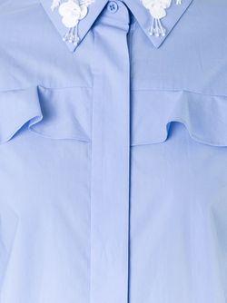 Рубашка С Украшениями На Воротнике Muveil                                                                                                              синий цвет
