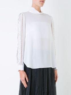 Блузка С Отделкой На Рукавах Muveil                                                                                                              белый цвет