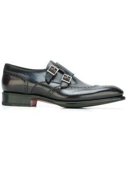 Туфли Монки Santoni                                                                                                              серый цвет