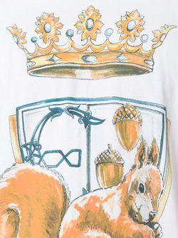 Футболка С Принтом Короны Etro                                                                                                              белый цвет