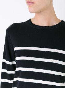 Полосатый Трикотажный Свитер Muveil                                                                                                              чёрный цвет
