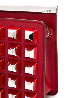 Сумка На Плечо С Пирамидальными Заклепками Fendi                                                                                                              красный цвет