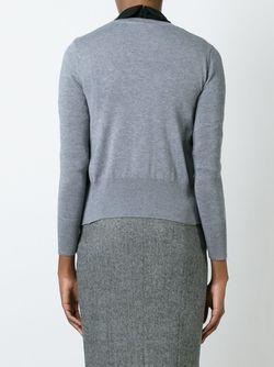 Кардиган С Вышивкой Olympia Le-Tan                                                                                                              серый цвет
