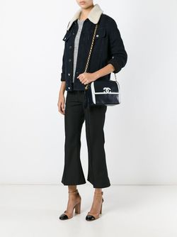 Сумка На Плечо С Контрастным Логотипом Chanel Vintage                                                                                                              синий цвет