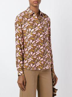 Блузка С Цветочным Узором MSGM                                                                                                              розовый цвет